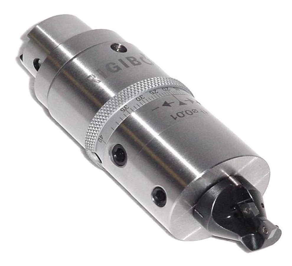 The tool was used to finish bore and chamfer valve ports, the tool has replaceable front ends for different size parts